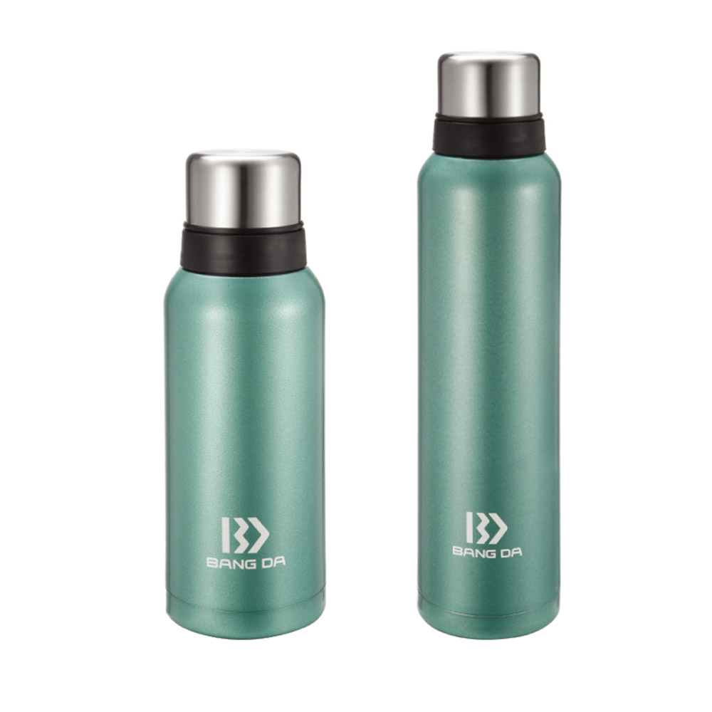 Classic stainless vacuum insulated bottle with 2 caps