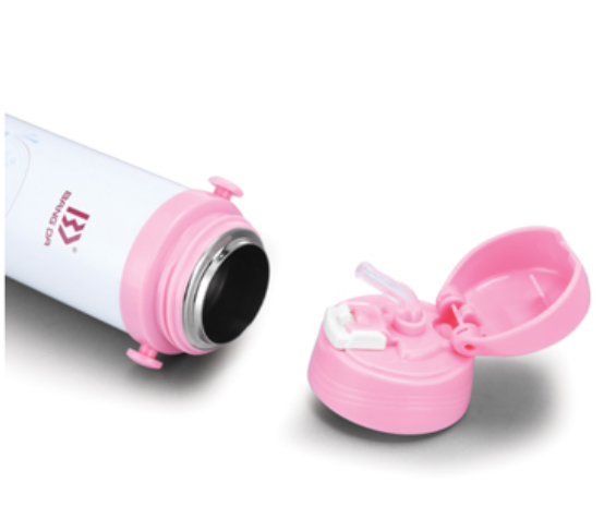 Children Water Bottle With Flip Straw Lid